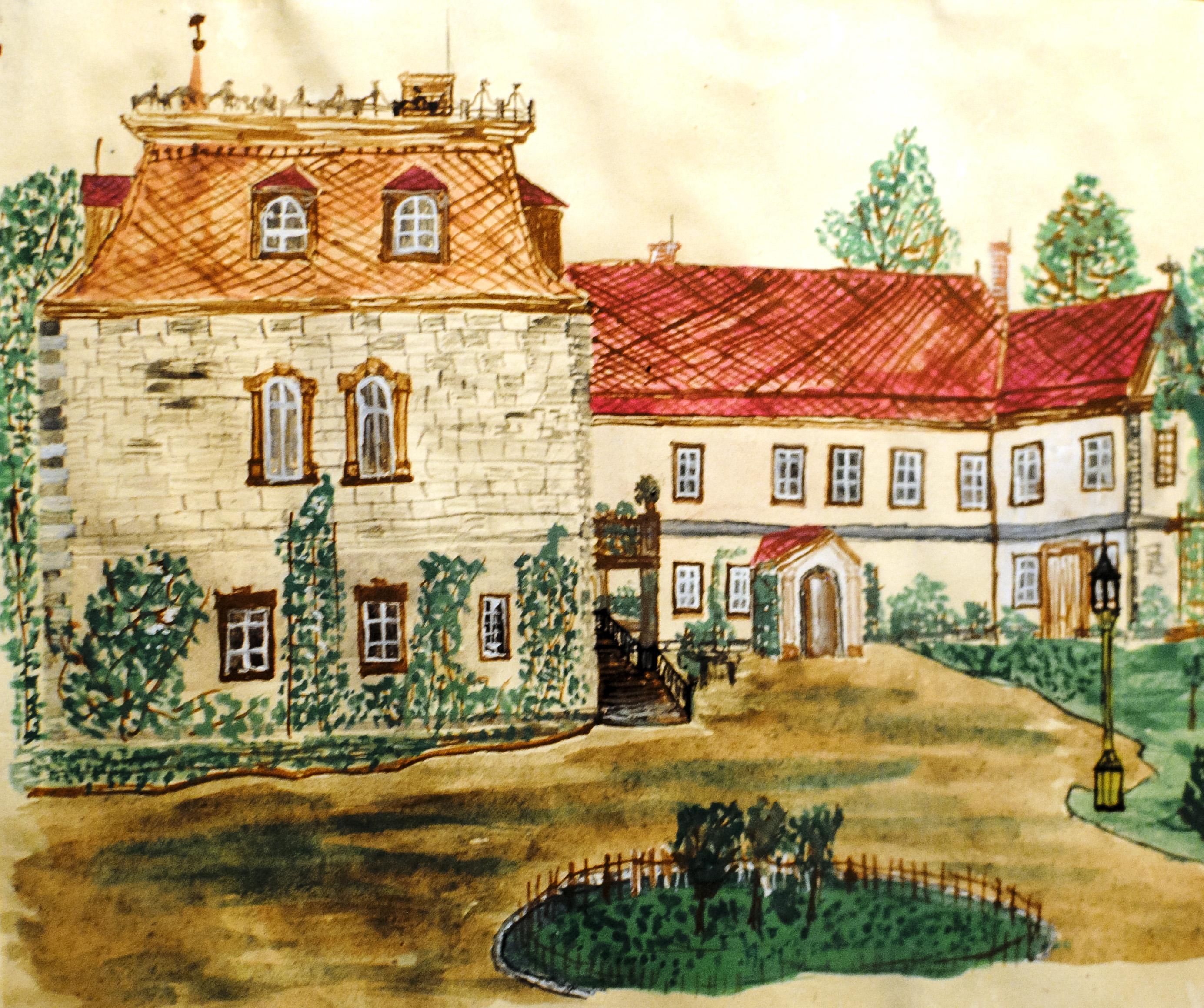 Villa in Ingersleben - historische Ansicht